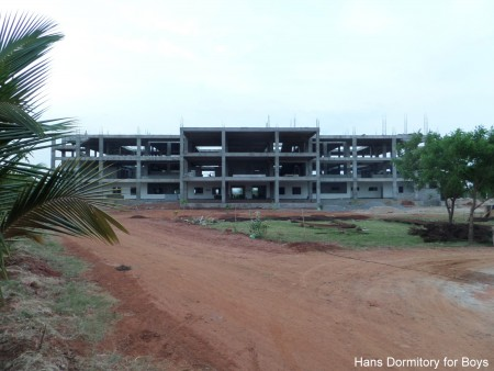 The Hans Foundation Boys' Dorm is due for completion in August